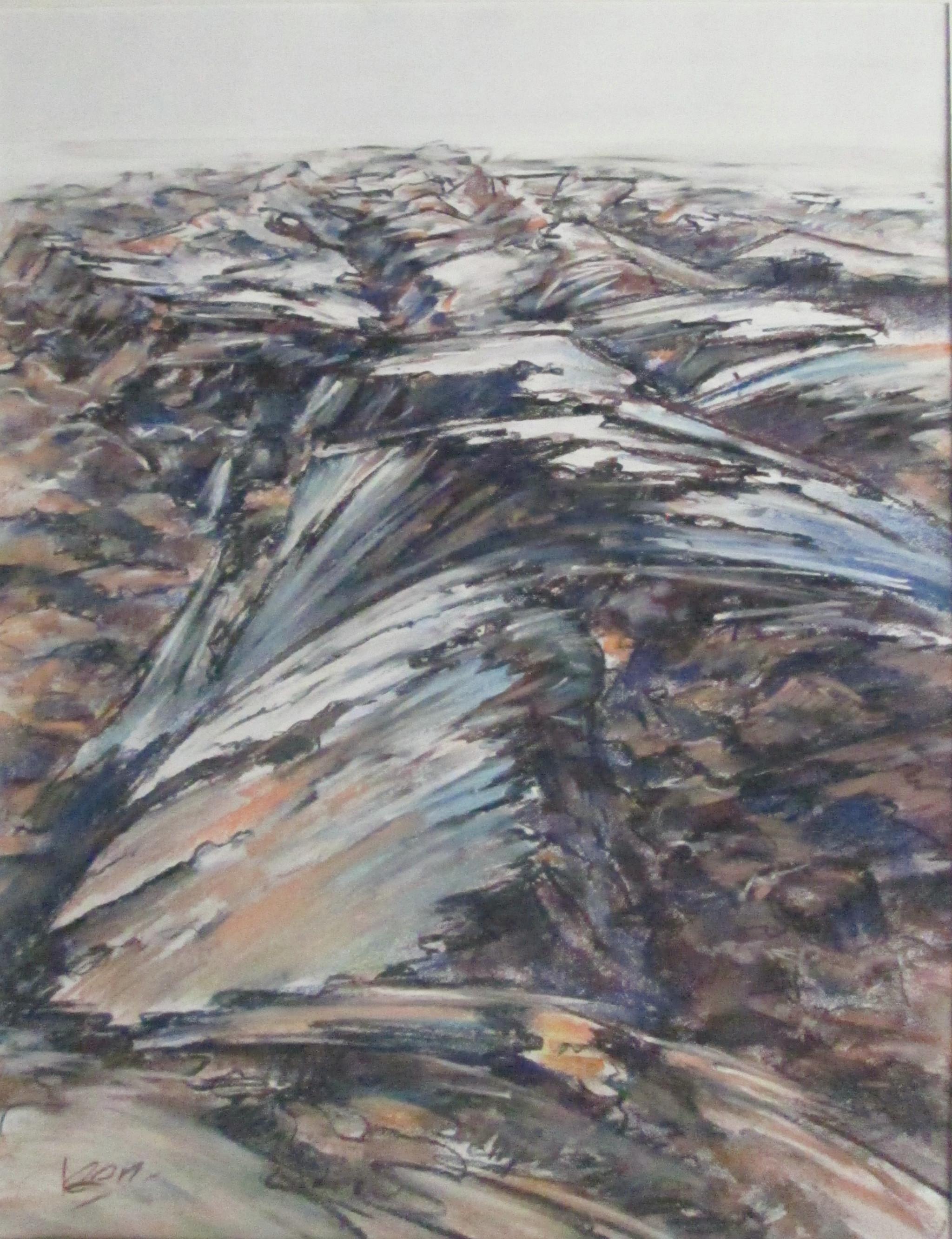 Geploegd 50x65 cm pastel