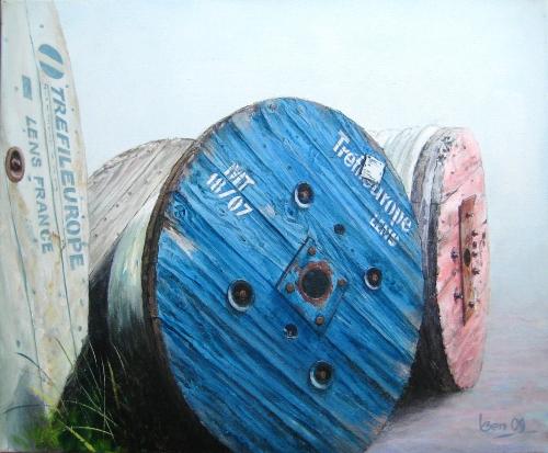 haspels vislijn 50x60 acryl op doek 2009