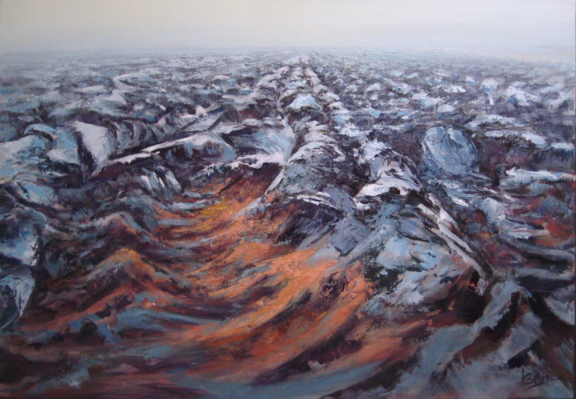 geploegd hogeland 70x100cm acryl op doek